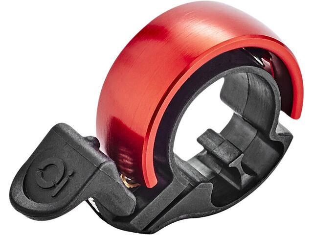 Knog Oi Classic Sonnette de vélo, black/red